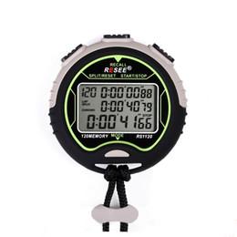 Cronómetro deportivo a prueba de agua online-Temporizador deportivo Tabla 120 resistente al agua Memoria de almacenamiento Temporizadores Electrónicos Circular Negro Plus Reloj blanco Reloj Cronómetro 90 r. J