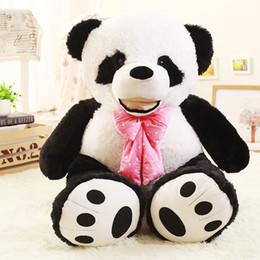 2019 panda peluche grandi 130 centimetri peluche panda peluche grande peluche panda animale bambola bella panda giocattolo regali di compleanno per i bambini sconti panda peluche grandi