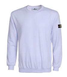 Wholesale Thin Cotton Shirts - 2017 brand new Fashion Men's T-Shirts single yarn stoned loop round collar island sweater 7 color size S-XXXL