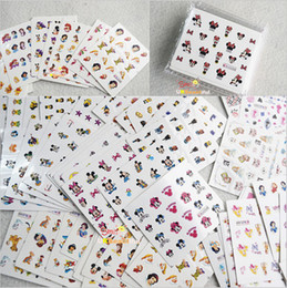 Wholesale 77 Cartoon - ail Art Stickers Decals 77 sheets Mixed Cartoon Designs Water Transfer Nail Art Stickers Beauty Wraps Foil Polish Decals DIY Decorations ...