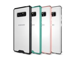 Wholesale Chinese Cushions Covers - New Hybrid TPU Bumper Frame Air Cushion Protective Case Clear Crystal Back Cover Shockproof Shell For Samsung s7 s8 Note 8 iphone X 8 7 PLUS