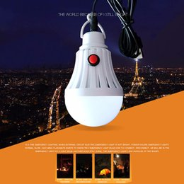 mobile led-lampe Rabatt 7W / 12W LED Birnen-im Freiennotbeleuchtungs-USB-Gebühr-bewegliche Energie, die Campingzelt-Glühlampe mit Schalter auflädt