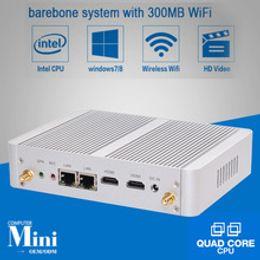Wholesale Mini Itx Fanless Pc - Dual NIC HYSTOU Celeron Fanless Mini Computer ITX PC N3050 linux 2 HDMI dual display Windows10 mini PCIE