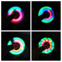 Wholesale Holidays Pattern - LED Spinner 3 Modes With 9 led can change different Pattern Luminous Light with Key switch Hand Spinner Finger spinner
