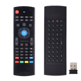 Wholesale Xbmc Wholesale Remotes - 2.4G Remote Control MX3 Air Mouse Wireless Keyboard with Microphone RF+IR 2 Mode Voice for XBMC Android Mini PC TV Box