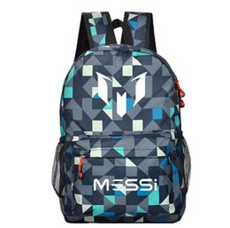Wholesale Boys Schoolbags - Messi backpacks waterproof jansport backpack men women Milky Way starry sky Schoolbags mochila for teenage boys girls kids