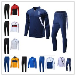 Wholesale Set Jacket - HOT sale Italian national team JACKET KIT 2017 2018 JUV INTER jacket WITH PANTS BONUCCI DYBALA 17 18 AC milan jacket FULL SET SweatWEAR