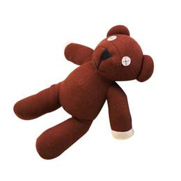 """gros porte-clés de ours en peluche Promotion 1 Pièce 9 """"M. Bean Teddy Bear Animal En Peluche Peluche Jouet, Figure brune Poupée Enfant Cadeau De Noël Jouets Livraison Gratuite"""