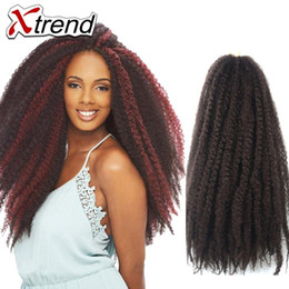 Wholesale Synthetic Cheap Hair - Xtrend Hot 18'' Afro Kinky Marley Braiding Hair Beauty Multi-color Synthetic Hair Cheap Afro Kinky Twist Crochet Braiding Hair