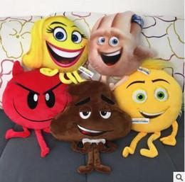 Wholesale Poo Soft Toy - Emoji Movie Plush Toys Soft Dolls Stuffed Animals Toys for Kids Poo Devil Children Xmas Gifts Kids Stuffed Toys Poop 419