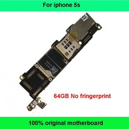 Wholesale Chip Works - 100% Original Good Working Logic Board 64GB Motherboard For Apple IPhone 5S Without Fingerprint Unlocked Mainboard With Chips