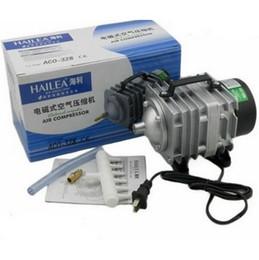 Wholesale Hailea Aquarium Air Pump - 82L min 60W Hailea ACO-328 Electromagnetic Air Compressor Aquarium Air Pump Fish Tank Increase Oxygen+Free Shipping