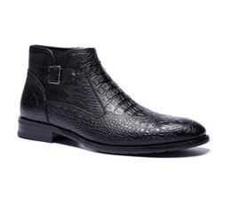 Wholesale Ankle Boots Comfortable - brand men boots quality handsome comfortable Retro leather spring boots