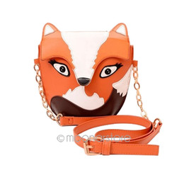 Wholesale Owl Crossbody Bags - Wholesale- Fashion Women Leather Handbags Vintage Cartoon Crossbody Bag Owl Fox Shoulder Bags Women Messenger Bag Canvas Women Handbags