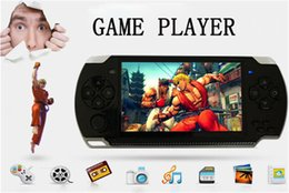 Wholesale Mp3 Mp4 Player 4gb - Hot sales! 4GB 4.3 Inch PMP Handheld Game Player MP3 MP4 MP5 Player Video FM Camera Portable Game Console