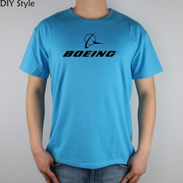 2020 magliette di lycra del cotone all'ingrosso Wholesale- BOEING AEROPLANE LOGO short sleeve T-shirt Top Lycra Cotton Men T shirt New magliette di lycra del cotone all'ingrosso economici