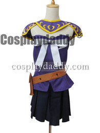 Wholesale Lucy Fairy Tails Cosplay Costume - Fairy Tail The Grand Magic Games Cosplay GMG Lucy Heartfilia Costume Purple New Outfit