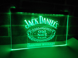 Wholesale Led Disco Lighting - LE048g- Jack Daniels Whisky Display LED Neon Light Sign