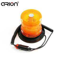 Wholesale Magnetic Flashing Led - 16 SMD LED Magnetic Mounted Beacon Safety Warning Flashing Strobe Emergency Lights Police Firemen light lamp Yellow 24V