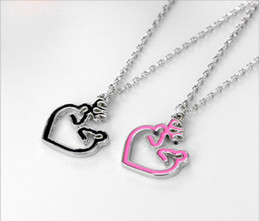 Wholesale Doe Animal - Ladies Fashion Trendy Paired Suspension Pendants Model her buck & his doe love elk couple necklace Europe and the United States burst