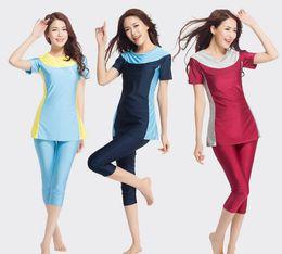 Wholesale Muslims Swimwear - wholesale women swimwear muslim swimwear girl swimming wear E144