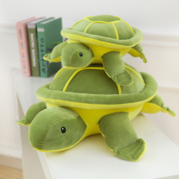 Wholesale Turtle Teddy - Hot Sale Green Big Size Turtle Plush Toys Super Kawaii Tortoise Turtle Soft Stuffed Toys Baby Kids Gift