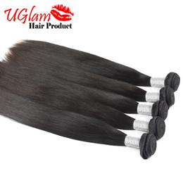 Wholesale Cheap Hair Products Free Shipping - 3 pcs lot 8-30 Inch Malaysian Virgin Hair Top Grade 100% Uglam Hair Products Straight Cheap Human Hair Weaves Free shipping no Shedding