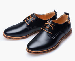 Wholesale Shoes For Dresses - shoes dress men Leather 2017 fashion Casual Lace up size mens italian dress shoe FOR MAN