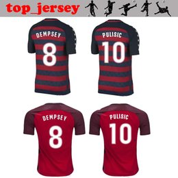 Wholesale United Soccer Shirt - 2017 2018 usa national DEMPSEY United States soccer jerseys thai quality PULISIC DONOVAN BRADLEY ALTIDORE gold cup Jerseys football shirt