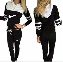 Wholesale Women Jog Suits - Women Tracksuit Sportswear Set Sports Suit Women Hoodies Sweatshirts Casual Hooded + 2PIECES JOGGING SUIT TRACKSUITS