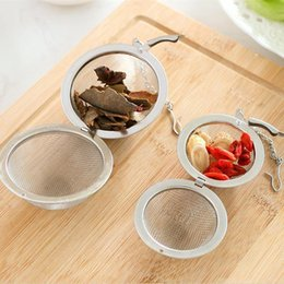Wholesale Sphere Tea Filter - New Stainless Steel Sphere Locking Spice Tea Ball Strainer Mesh Infuser tea strainer Filter infusor Free Shipping F201770