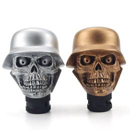 Wholesale Skull Knobs - Car Accessories Super Personality Car Modification Gear Shift Knob Devil Head Resin Knob Soldier Skull