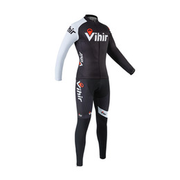 Wholesale Cycle Clothing Wholesale - Vihir Men's Long Sleeve Breathable Cycling Clothing Quick-Dry Sportwear Cycling Jerseys Sets with No Bib Bike Pants