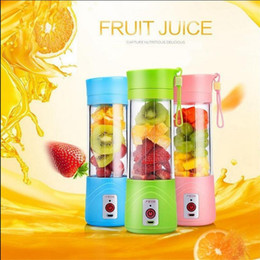 Wholesale Electric Buttons - USB Electric Fruit Juicer Bottle 380ML Portable Handheld Smoothie Maker Blender Bottle Juice Cup Juicer Blender OOA2674