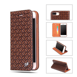 Wholesale Plastic Cases For Business Cards - Business Leather Wallet Case Flip Cover With Card Slot Kickstand For Samsung S8 plus Iphone 8 7 6s Plus With Retail Package
