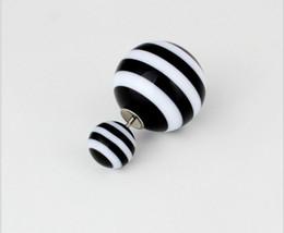 Wholesale Earings Designs - 2015 design fashion brand jewelry double Imitation pearls elegant Stripe stud earrings for women Variety big beads earings