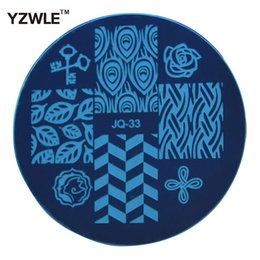 Wholesale Pcs Images - Wholesale- YZWLE 1 Pcs Stainless Steel Plate Image Stamp Stamping Plates DIY Manicure Template Nail Polish Tools (JQ-33)