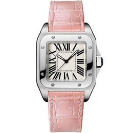 Wholesale Top Branded Ladies Watches - Luxury Top Brand Women Square Watches Geneva Genuine Leather Quartz Watches High Quality Fashion Lady Santo Watches