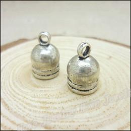 Wholesale End Caps Tibetan - 80 pcs Charms Pendant Tibetan silver Zinc Alloy Tone Blunt Necklace End Tip Bead Caps DIY Metal Jewelry Findings