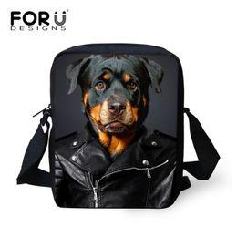 Wholesale Female Camouflage Clothing - Wholesale-Women Messenger Bags 2016 Fashion 3d Pet Dog Wear Clothes Print Crossbody Bag Female Rottweiler Dog Shoulder Bag Bolsos Mujer