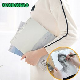 Wholesale Beautiful Drawings - Wholesale- Beautiful scenery of high quality Spiral Journal Dairy Blank Sketchbook 50 Sheets Art Drawing Painting Graffiti Notebook A4 16k