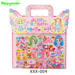 Wholesale Wholesale Bubble Pens - Happyxuan 6pcs pack Fairy Dress Up Girl Sticker Princess Cartoon Character Mermaid Bubble Kids Toys XXX Series