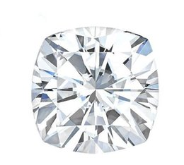 Wholesale Loose Lab Diamonds - Brilliant E F Color 8*8mm White Moissanite Stones Cushion Cut Synthetic Loose Moissanite Gemstone Beads Diamond Test Positive