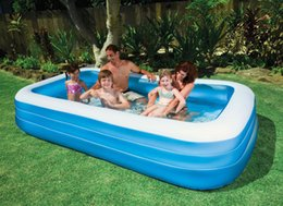 Wholesale Intex Pools - Wholesale- INTEX big size 305*183*56cm blue and white ground pool, family pool, swimming pool, summer play pool