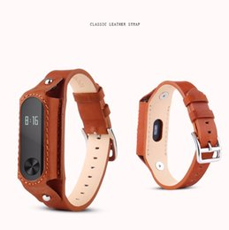 Wholesale Red Leather Wristband Bracelet - Xiaomi Mi Band 2 Bracelet Strap Miband 2 Colorful Leather Strap Wristband Replacement Smart Band Accessories for Xiaomi Band 2