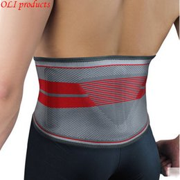 Wholesale Fitness Equipment Design - Wholesale- Exclusive design silica gel sports waist support belt lumbar back support fitness bodybuilding equipment free shipping #WA5603