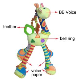 Wholesale Mobile Hanging Teddy Bear - Stuffed Animals Stuffed Plush Animals Quality deer toys bed baby mobile hanging baby rattle toy giraffe with