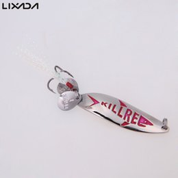 Wholesale Trolling Feathers - q0205 5.5cm 10g Fishing Spoon Lure Trout Metal Hard Bait Sequin Spoon Noise Paillette with Feather Treble Hook