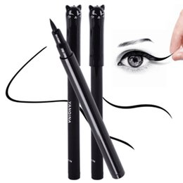 Стили для кошачьего глаза онлайн-Оптовая-красота кошка стиль черный длительный водонепроницаемый жидкость подводка для глаз подводка для глаз ручка карандаш макияж косметический инструмент