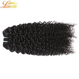 wavy permed hair Coupons - 7a Grade Unprocessed Human Hair 4 Bundles Brazilian Deep Curly Human Hair Double Weft Human Hair Deep Wave Wavy Natural color #1B